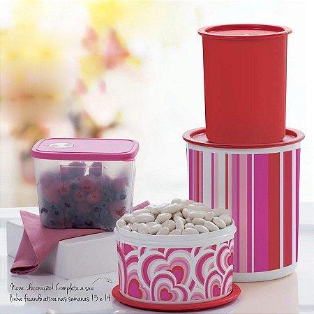 Tupperware Super Instantâneas + Freezertime kit 4 peças Vermelho