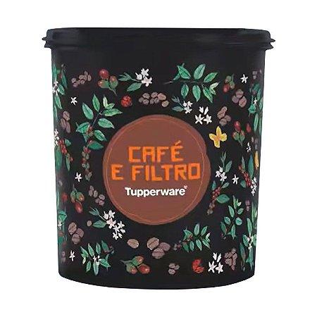Tupperware Caixa Café e Filtro Floral