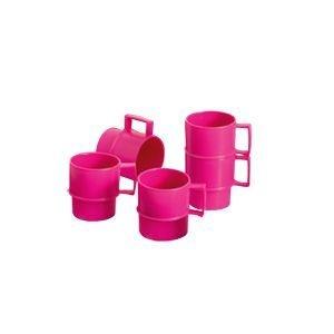 Tupperware Mini Canecas 40ml Rosa Pink 5 peças