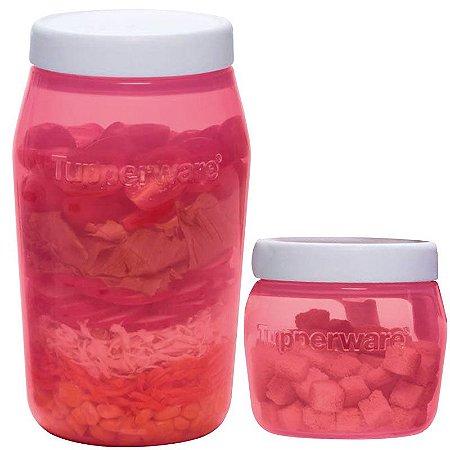 Tupperware Universal Jar 325ml + 825ml Vermelho Kit 2 Peças