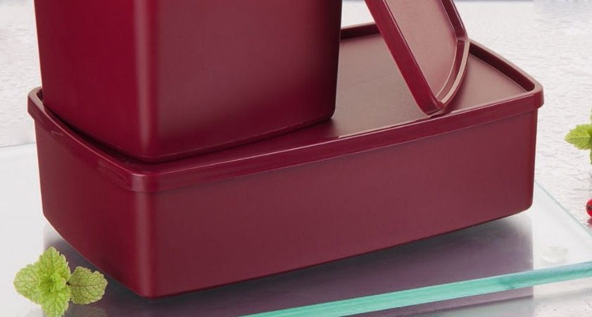 Tupperware Caixa Ideal Marsala 1,4 litro