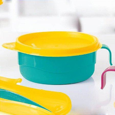 Tupperware Pratinho Infantil com Alça 240ml Azul