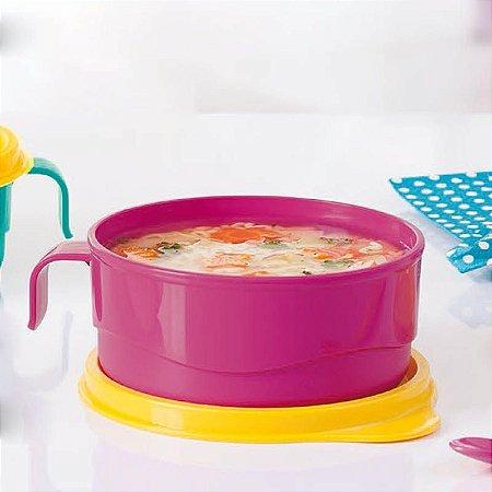 Tupperware Pratinho Infantil com Alça 240ml Rosa