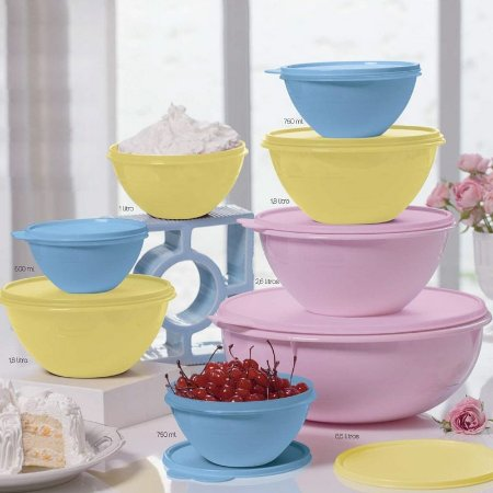Tupperware BEA Tigela Maravilhosa Colorido kit 8 peças 05-2016