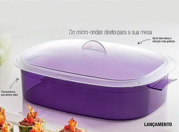 Tupperware Microwave Oval Policarbonato 2,1 litros Roxo