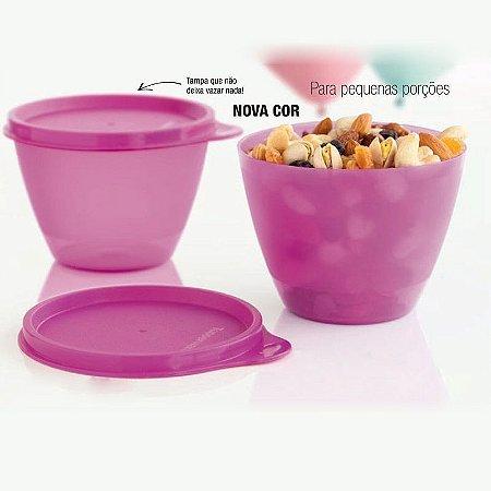 Tupperware Caçulinha 400ml Rosa Kit 2 peças