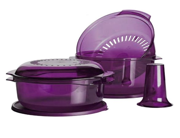 Tupperware Microplus Stack Cooker Roxo kit 3 peças