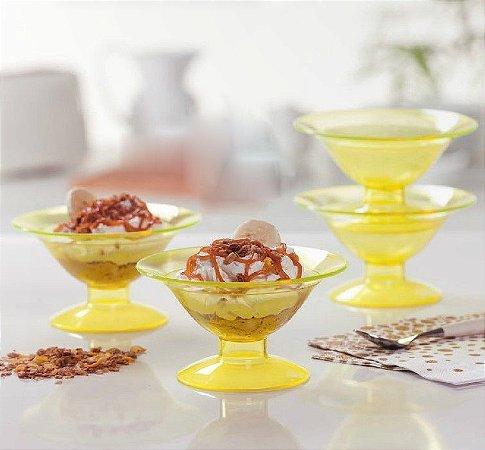 Tupperware Tacinha Premier 160ml Amarelo Cristal kit 4 peças