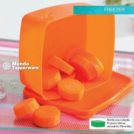 Tupperware Jeitosinho Cenoura Alaranjado 400ml Freezer