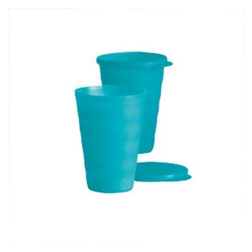 Tupperware Copo Murano 500ml Kit 3 peças Verde Água