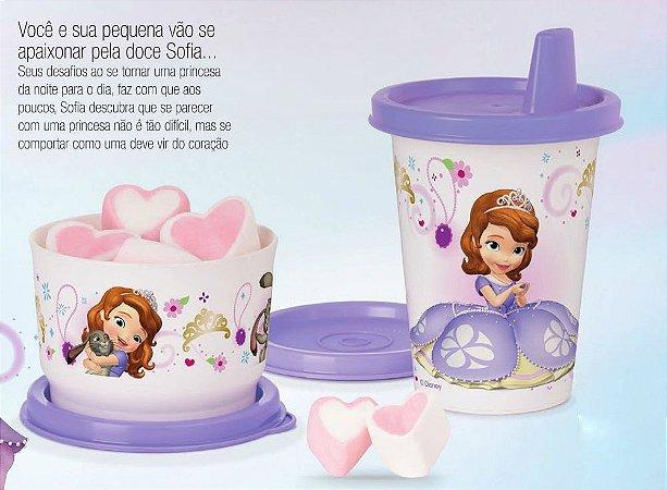 Tupperware Potinho + Copinho Princesinha Sofia kit 2 peças Roxo