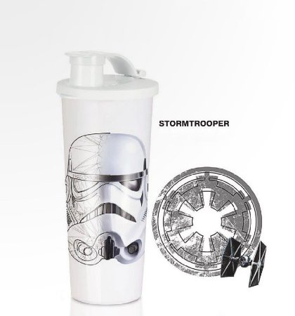 Tupperware Copo Stormtrooper Star Wars 470ml Branco
