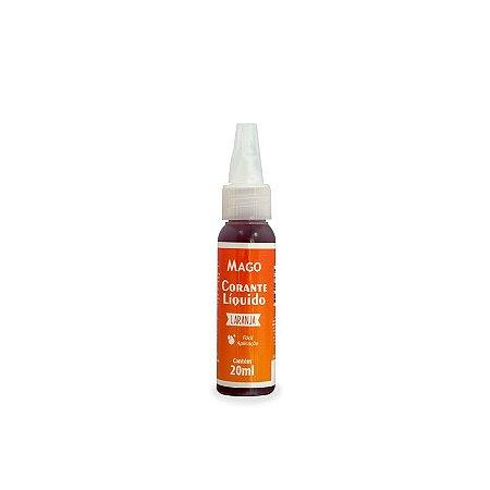 CORANTE LIQUIDO LARANJA - 20 ml - MAGO - 1 UNIDADE