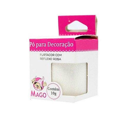 PÓ PARA DECORAÇÃO FURTACOR C/ REFLEXO ROSA - MAGO - 1 UNIDADE