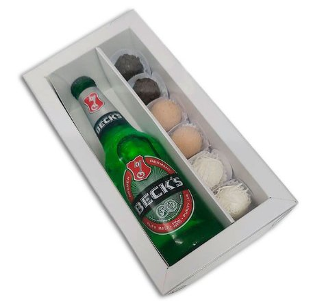 05 Caixas para 1 long neck e 6 doces - Branca - pct c/5 unid.