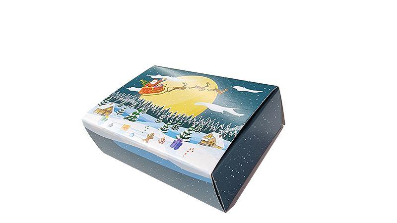 10 Caixas Natal para 6 brigadeiros - modelo noite natal- pct c/10 unid.