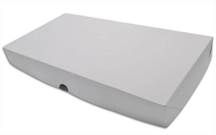 Caixa Branca p/ transporte 50 Doces c/ berço - 10 unidades