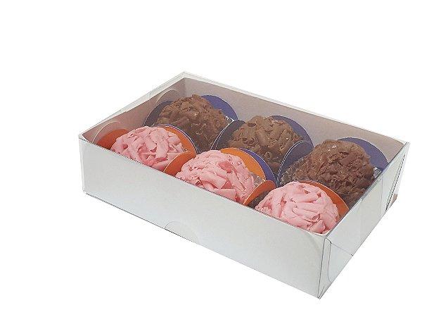 Embalagem brancas para 6 doces (12x8x3) - 20 Unidades