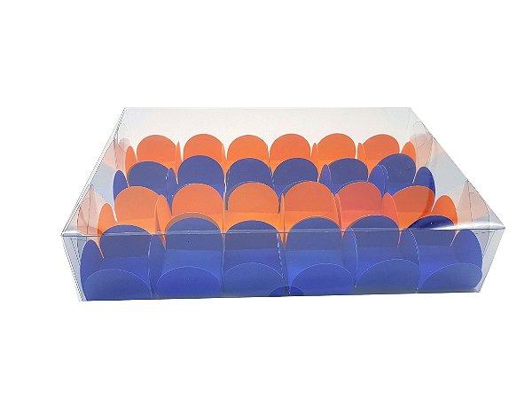 Embalagem de acetato transparente para 24 doces (22,5x15x5) - 20 Unidades