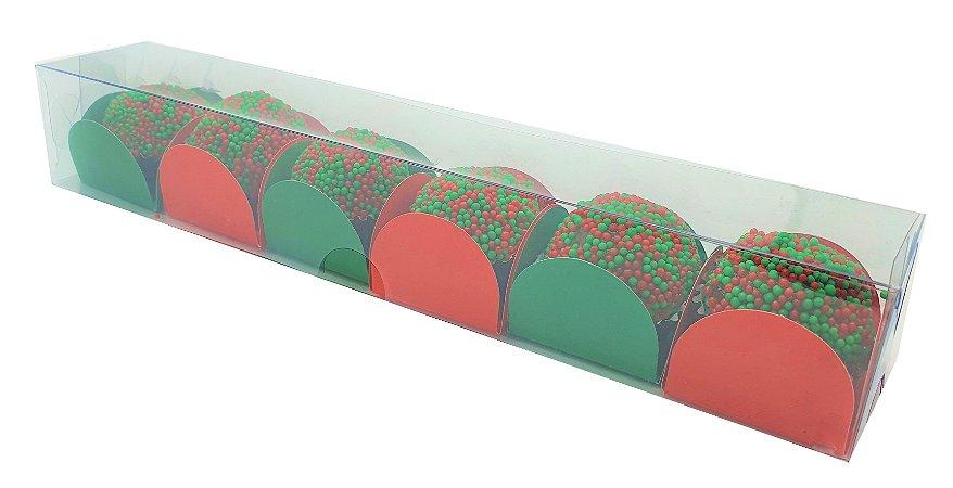 10 Caixas de acetato transparente P/6 doces 22x4x3,5  c/10 Unid.