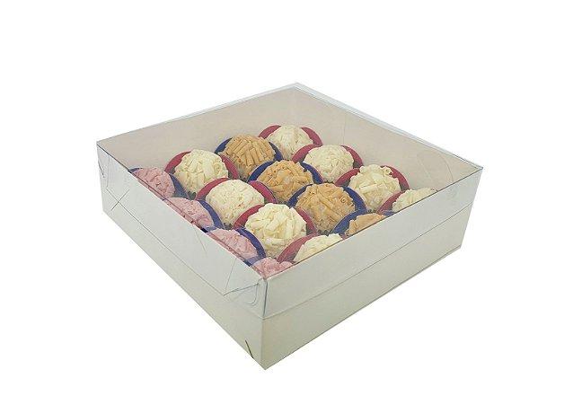 Embalagem brancas para 16 doces (15X15X4) - 20 Unidades