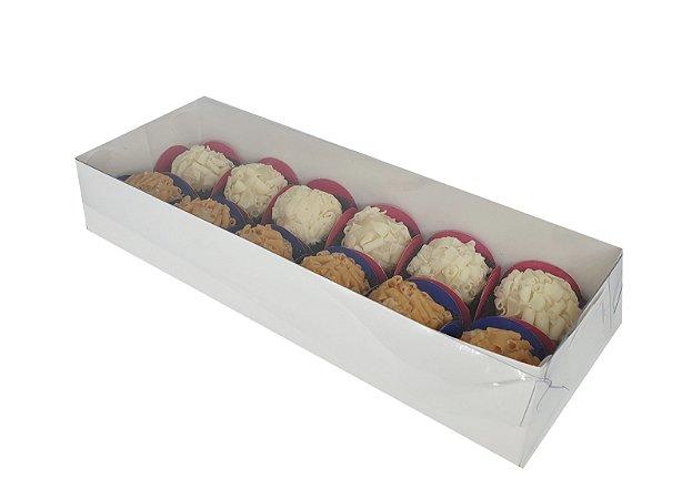 Embalagem branca  para 12 doces (23,5X8,5x4,5) - pacote c/20 Unidades