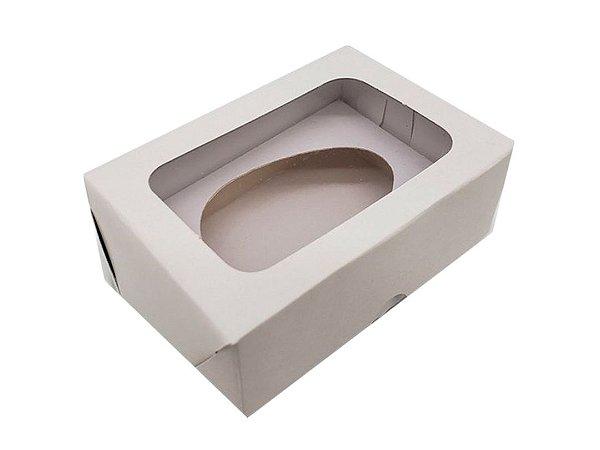 10 Caixas Brancas Para Ovo de Colher 50g- 10 Unidades