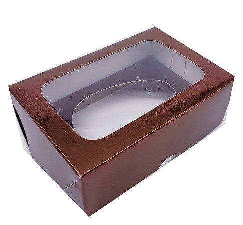 10 Caixas Bronze Para Ovo de Colher 50g Sem Colher - 10 Unidades sem a colher
