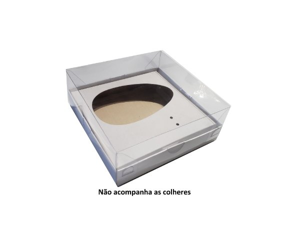 10 Caixas Slim Branca Para Ovo de Colher 250g - 10 unidades
