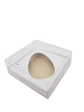 10 - Caixas Branca Para Ovo de Colher 350g  sem colher - pacote c/10 Unidades