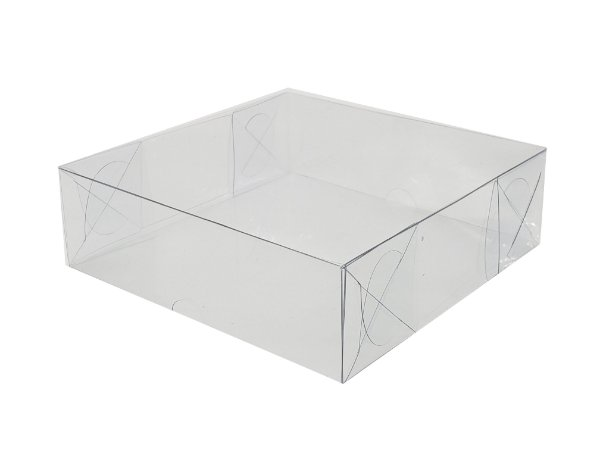 Embalagem acetato transparente 9 doces (13 x 13 x 4)- 20 Und