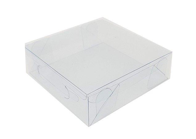 10 - Caixas de acetato transparente  (10x10x3) -pct c/10 Unid.