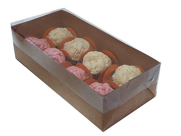 Embalagem Kraft para 8 doces ( 17 x 8 x 4,5)  10 unidades