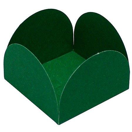 Forminhas para Doces 4 Pétalas Verde Bandeira 50 unidades