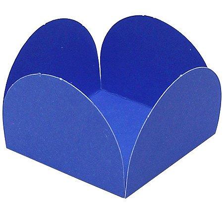 Forminhas para Doces 4 Pétalas Azul Royal 50 unidades