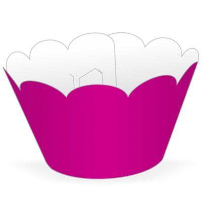 Saia / Wrapper Cupcake Tradicional - Pink - 5cm x 22cm x 12cm -  12 unidades