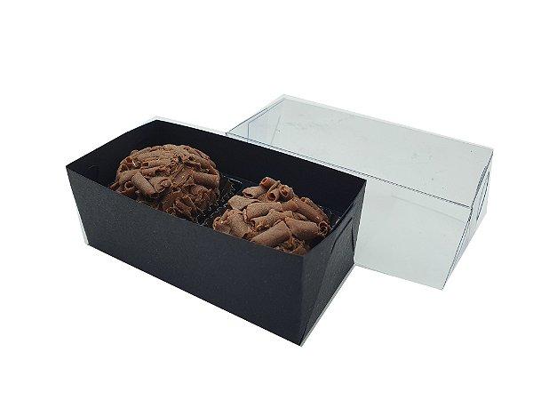 Embalagem Preta para 2 doces (8x4x3) - 20 Und.