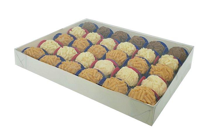 Embalagem Branca para 30 doces (24x19x3) pacote c/ 10 unidades