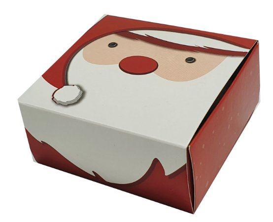 Embalagem P/4 doces modelo Papai Noel - pct c/10 unidades