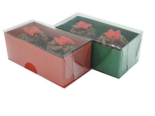 100 Caixas Natal P/2 Brigadeiro/doces - 50 Vermelha e 50 Verde