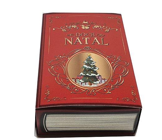 Embalagem para 6 brigadeiros -Natal modelo Livro de Natal - pacote c/50 unidades