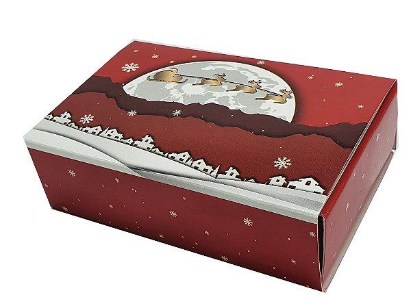 Embalagem Natal Para 6 brigadeiros  - modelo Renas - pacote c/50 unidades