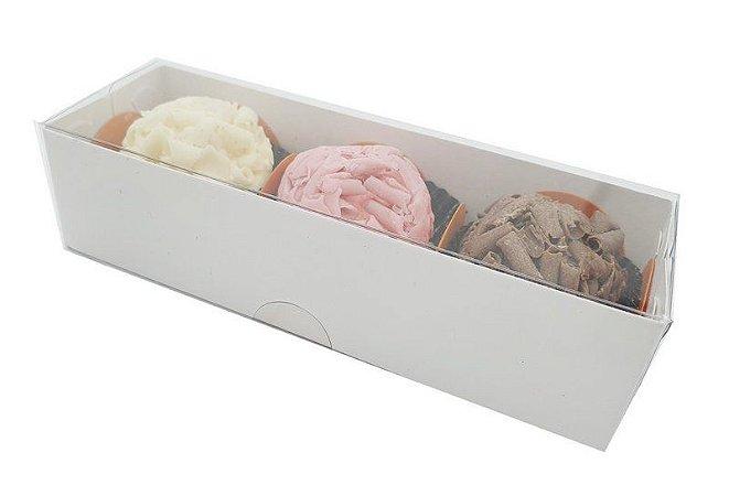 Embalagens brancas para 3 doces - pacote c/1.000 unidades