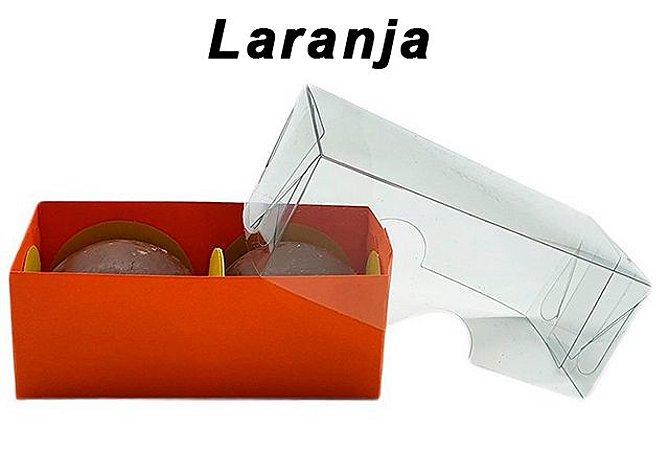 Embalagem laranja para 2 doces (8x4x3) pct/20 unidades