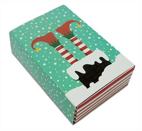 Embalagem Natal P/6 doces - modelo Pezinhos - pct c/10 unidades