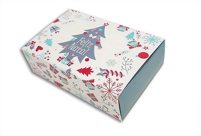Embalagem Natal para 6 brigadeiros - modelo arvore natal- pacote c/10 unidades