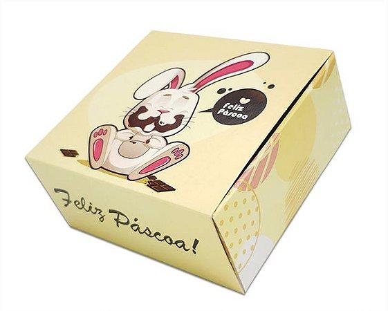 10 Embalagens Pascoa p/ 4 brigadeiros coelho chocolate (8,5x8,5x3,5)