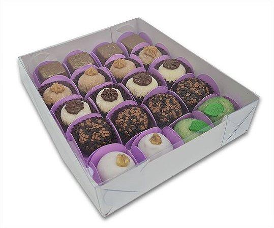 10 Caixas branca p/ 20 Brigadeiros ou doces 19x16x4 - pct 10 und