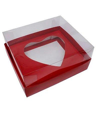 Caixa Ovo de Colher Coração 200g Vermelha / 5 un