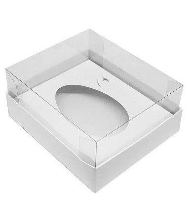 Caixa para Ovo de Colher 350gr 5 unidades branca